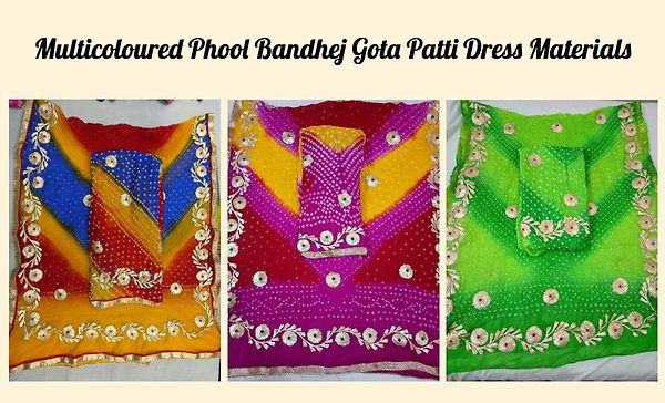 multicoloured-phool-bandhej-gota-patti-dress-materials