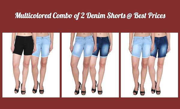 multicolored-combo-of-2-denim-shorts-best-prices
