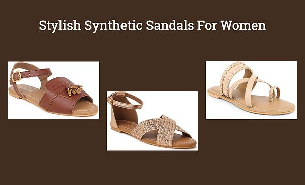 Stylish Synthetic Sandals For Women