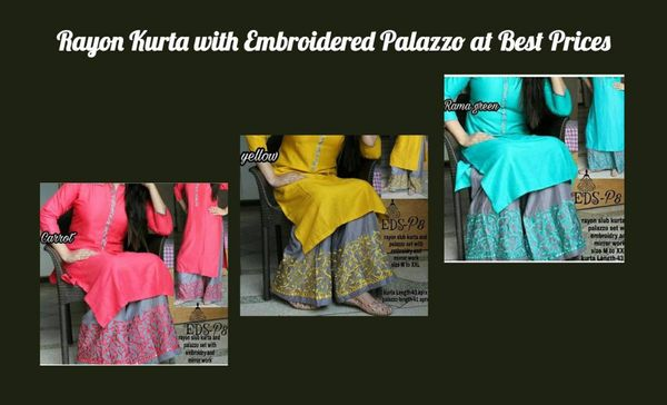 rayon-kurta-with-embroidered-palazzo-at-best-prices