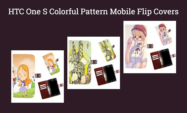 htc-one-s-colorful-pattern-mobile-flip-covers