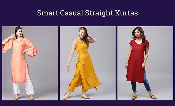 Smart Casual Straight Kurtas