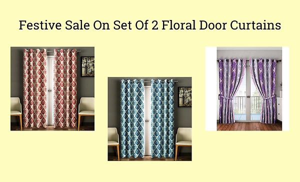 festive-sale-on-set-of-2-floral-door-curtains
