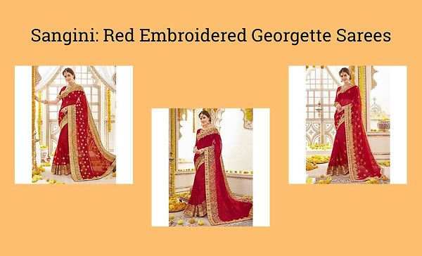 sangini-red-embroidered-georgette-sarees