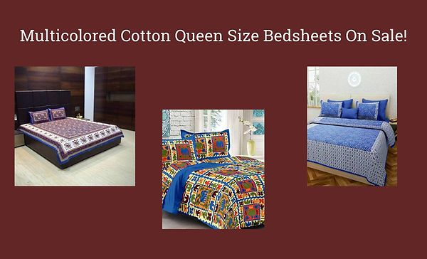 multicolored-cotton-queen-size-bedsheets-on-sale