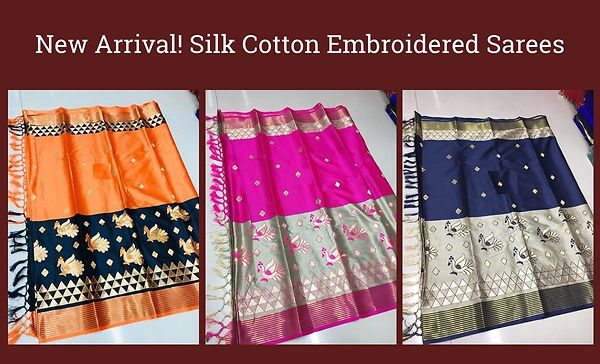 new-arrival-silk-cotton-embroidered-sarees