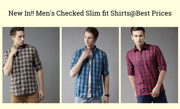 new-in-men-s-checked-slim-fit-shirts-best-prices