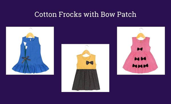 cotton-frocks-with-bow-patch
