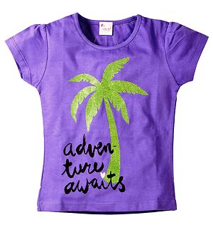 Coconut Tree Print Tee  by Leo Boutique