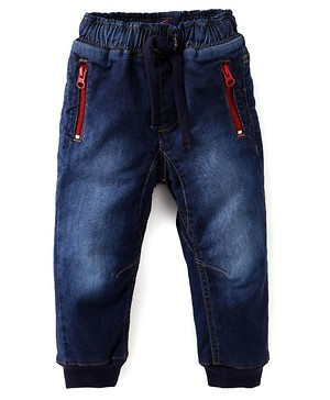 Pull on Denim with zipper pockets
