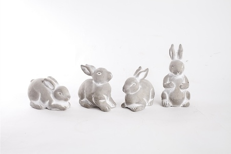 RABBITS SET OF FOUR( ISCG31)