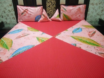ELASTIC FITTED BEDSHEET WITH 2 CUSHIONS