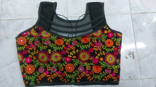Designer Blouse  With heavy embroidery.