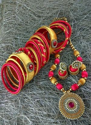 Silk thread jewel set