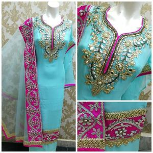 Beautiful Georgette Suits With Hand Work VN01