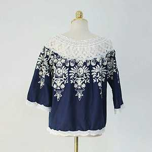 Premium Cotton Off Shoulder top  Price 795+ship  Fabric ~ Cotton with aari Embroidered work  SIZE.....34 TO 38 BUST.....  Color Black & Navy Blue