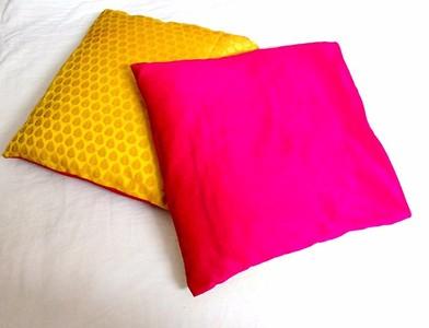 Brocade cushion cover