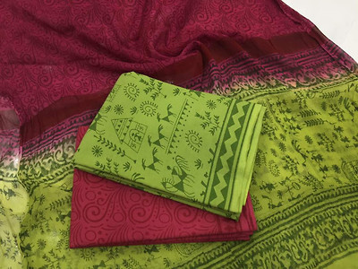 Excellent Quality - Jaipur Cotton Dress Materials (Contact whatsapp@ 9008897832 before booking)