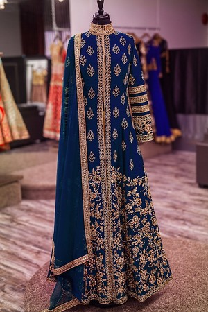 Navyblue mirror crafted salwarsuit