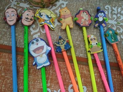 Pencils with cartoon pencil topper