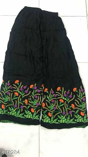 embroidered palazzos