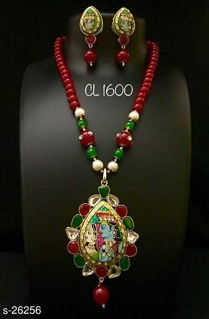 Kundan with tanjore painting necklaces