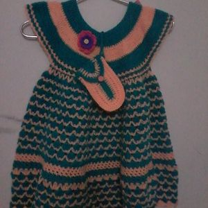 Double shell frock for 4yrs old