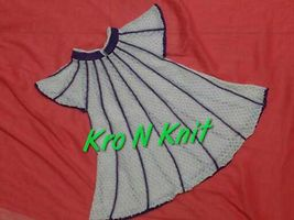cotton knitted baby frock