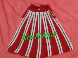 machine knitted cotton baby. frock