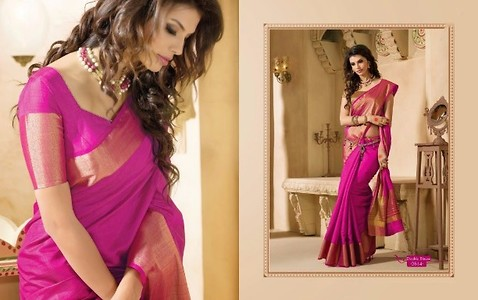ASHIKA RUDRAKSH WITH DOUBLE BLOUSE