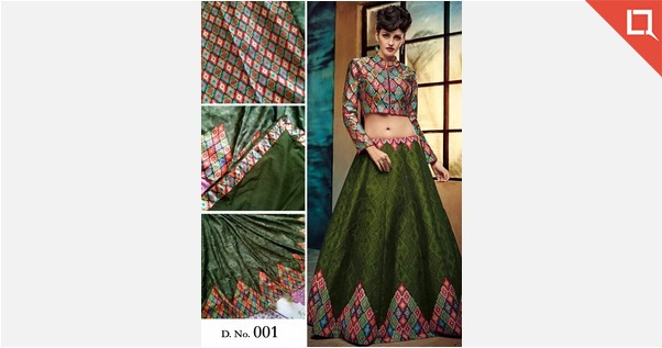 Exclusive Designer Lehenga Choli. Form - Semi-stitched (Material) fits up to 44