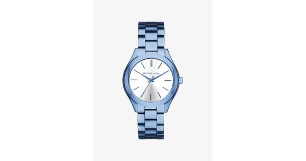 MICHAEL KORS Slim Runway Cerulean-Tone Watch