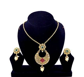 Gold Plated Pendent Set (B6ps113)