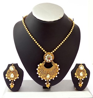 Gold Plated Pendent Set (B6ps084)