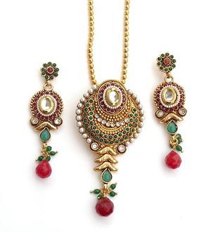 Gold Plated Pendent Set (B6ps055)