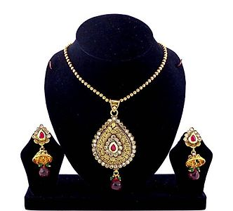 Gold Plated Pendent Set (B6ps120)