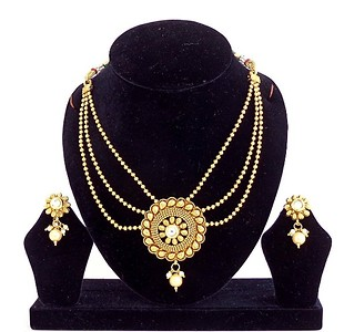 Gold Plated Pendent Set (B6ps122)