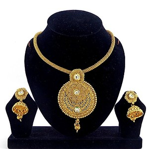 Gold Plated Pendent Set (B6ps127)