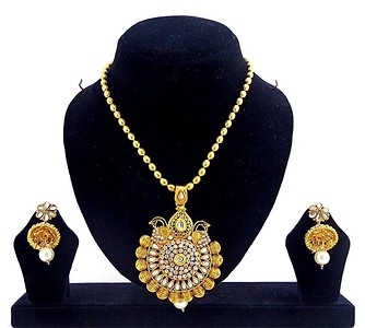 Gold Plated Pendent Set (B6ps147)