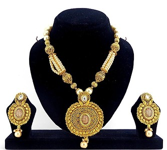 Gold Plated Pendent Set (B6ps141)