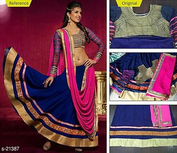 Lehenga georgette with embroidery work