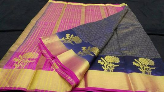 Tussar silk  Light weight  All over embos...
