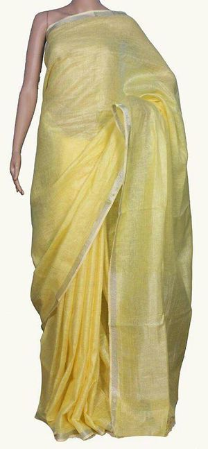pure linen by linen sarees 💯 count