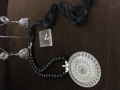 Black beaded jewellery