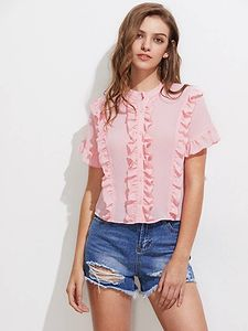 Women Wear For Pink Cotton Top