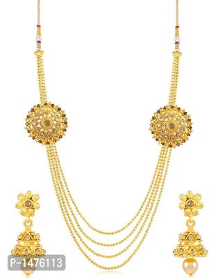 Amazing 4 String Gold Plated Necklace Set