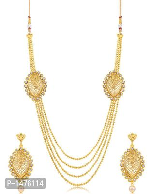 Stunning 4 String Gold Plated Necklace Set