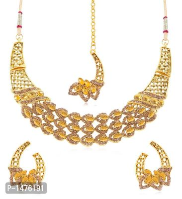 Pleasing Gold Plated Necklace Set