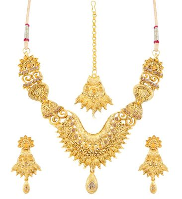 Beguiling Gold Plated Necklace Set