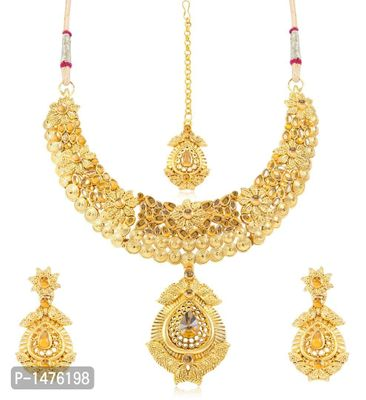 Alluring Gold Plated Necklace Set
